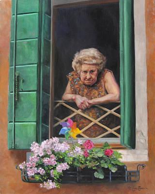 A Venetian Spectator Poster by Anna Rose Bain