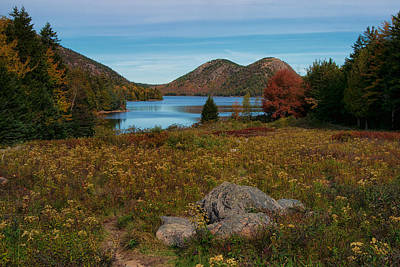 A View Of Jordan Pond Poster by Darylann Leonard Photography