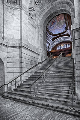 A View To The Mcgraw Rotunda Nypl Poster by Susan Candelario
