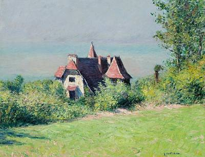 A Villa At Trouville Poster by Gustave Caillebotte