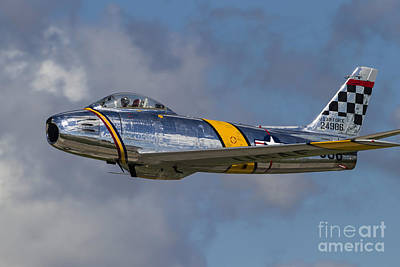 A Vintage F-86 Sabre Of The Warbird Poster by Rob Edgcumbe
