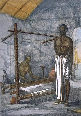 A Weaver, From The Hindus, Or Poster by Franz Balthazar Solvyns