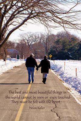 A Winter Walk/inspirational Poster by Karen Silvestri