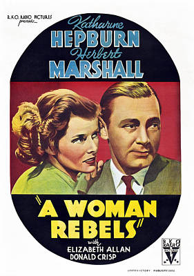A Woman Rebels, From Left Katharine Poster by Everett