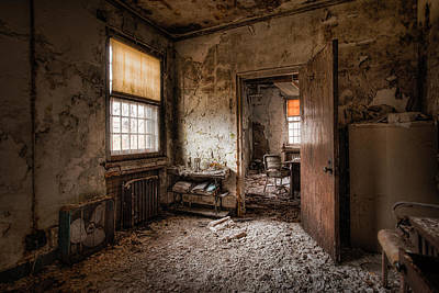 Abandoned Asylum - Haunting Images - What Once Was Poster by Gary Heller