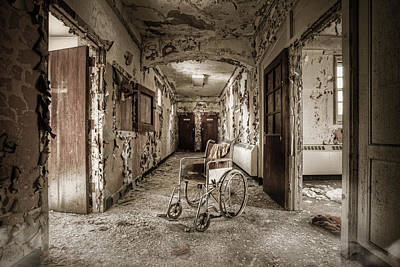 Abandoned Asylums - What Has Become Poster by Gary Heller