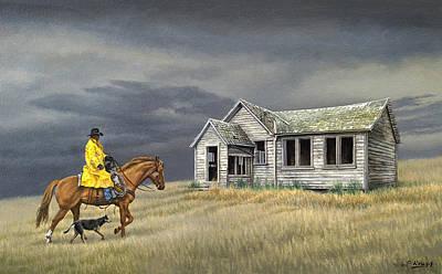 Abandoned Homestead-eastern Idaho Poster by Paul Krapf