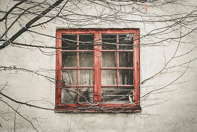Abandoned House Detail With Old Wooden Window II Poster by Aldona Pivoriene