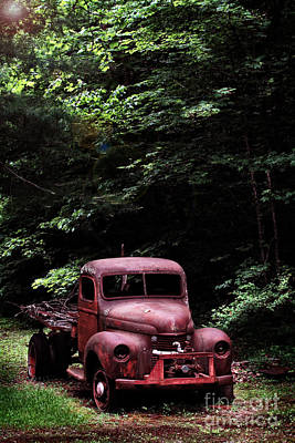 Abandoned Truck Poster by Stephanie Frey