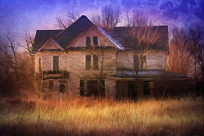 Abandonment At Nightfall Poster by Georgiana Romanovna