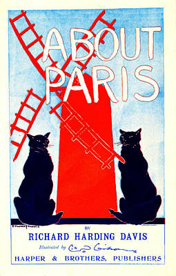 About Paris Advertisement 1895 Poster by Padre Art