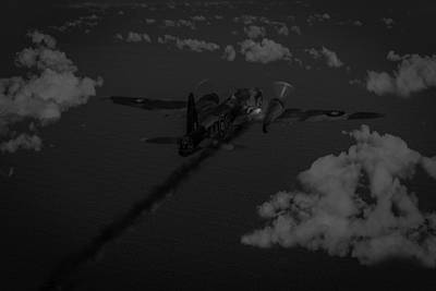 Above And Beyond - Jimmy Ward Vc Black And White Version Poster by Gary Eason
