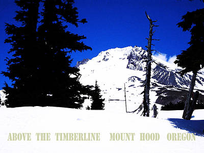 Above The Timberline  Mt Hood  Oregon Poster by Glenna McRae