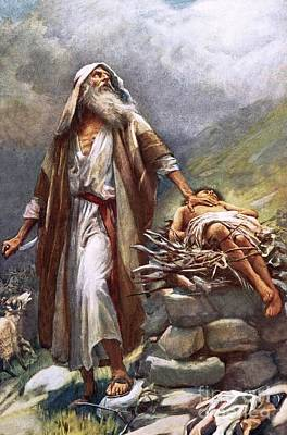 Abraham And Isaac Poster by Harold Copping