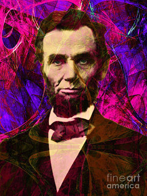 Abraham Lincoln 2014020502m68 Poster by Wingsdomain Art and Photography
