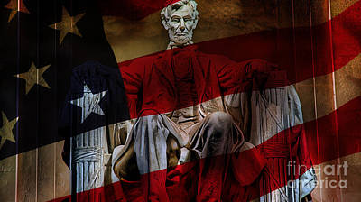 Abraham Lincoln Poster by Marvin Blaine