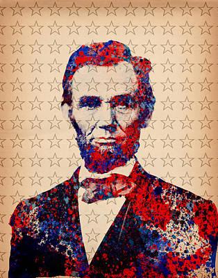 Abraham Lincoln Pop Art Poster by Bekim Art