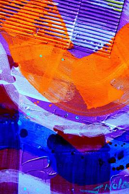 Abstract  19614 Cropped I  Poster by John  Nolan