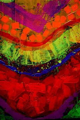 Abstract 23614 Cropped I Poster by John  Nolan