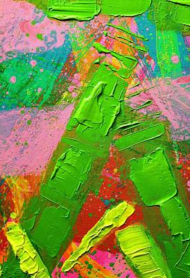 Abstract 6814 Diptych Cropped Xvii Poster by John  Nolan