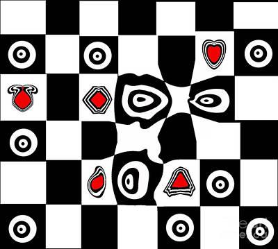 Abstract Art Black White Red Geometric Art No.110. Poster by Drinka Mercep