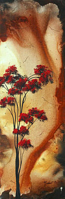 Abstract Art Colorful Original Landscape Painting Birds Aloft By Madart Poster by Megan Duncanson