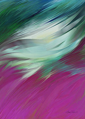 abstract art Flight of Imagination Poster by Ann Powell