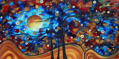 Abstract Art Original Landscape Painting Bold Circle Of Life Design Show Me The Way By Madart Poster by Megan Duncanson