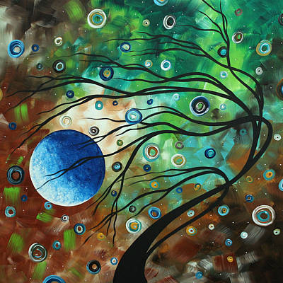 Abstract Art Original Landscape Painting Mint Julep By Madart Poster by Megan Duncanson