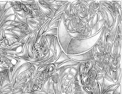 Abstract Drawing In Pencil What Do You See Series Poster by Minding My  Visions by Adri and Ray