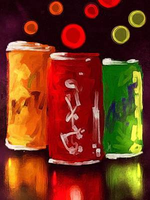 Abstract Drinks Poster by Veronica Minozzi