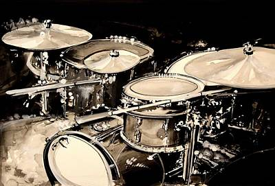 Abstract Drum Set Poster by J Vincent Scarpace