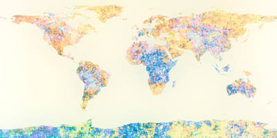Abstract Earth Map 2 Poster by Bob Orsillo