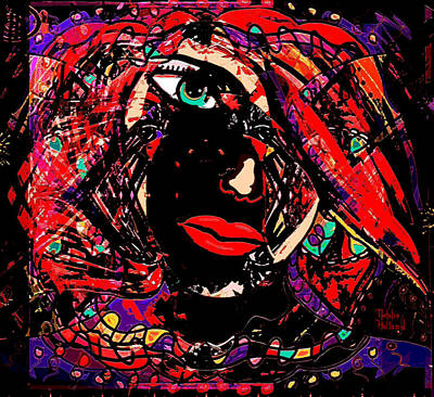 Abstract Face Poster by Natalie Holland