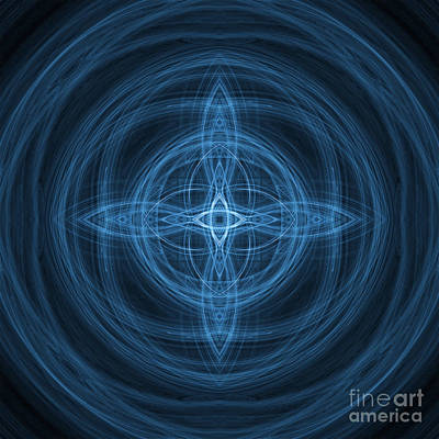 Abstract Fractal Background 07 Poster by Antony McAulay
