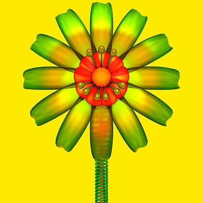 Abstract Glass Flower Poster by Jan Brons