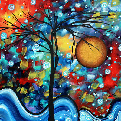 Abstract Landscap Art Original Circle Of Life Painting Sweet Serenity By Madart Poster by Megan Duncanson