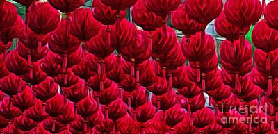Abstract Lanterns Poster by Kaye Menner