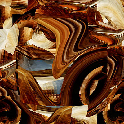 Abstract Number 099 - Onyx Drapery Poster by rd Erickson