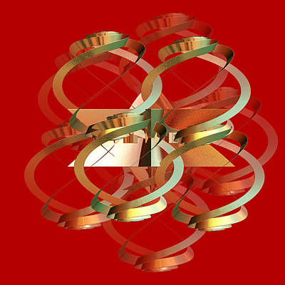 Abstract On Red Series 4 Poster by Linda Phelps