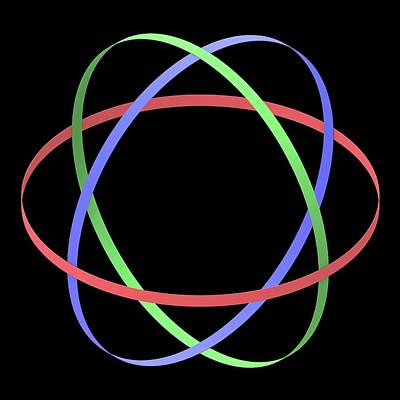 Abstract Orbit Circles Poster by Alfred Pasieka