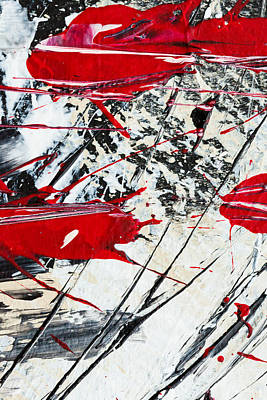 Abstract Original Painting Untitled Ten Poster by Maria  Lankina