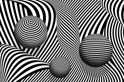 Abstract - Poke Out My Eyes Poster by Mike Savad