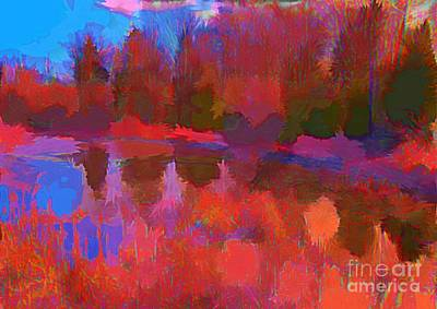 Abstract Pond Poster by John Malone