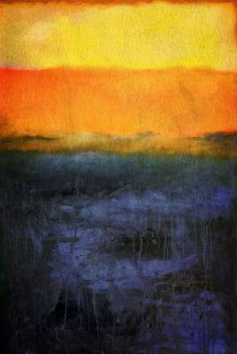 Abstract Shoreline 4.0 Poster by Michelle Calkins