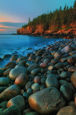 Acadian Dawn - Otter Cliffs Poster by Thomas Schoeller