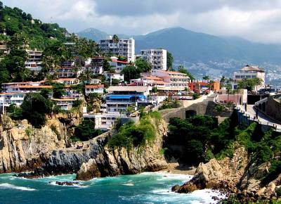 Acapulco Poster by Karen Wiles