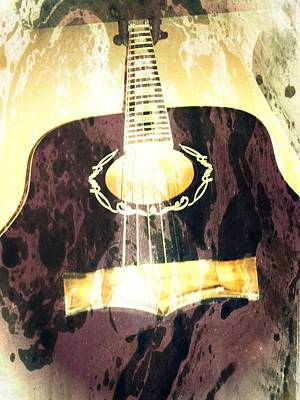 Acoustic Guitar - In The Studio Poster by Brian Howard