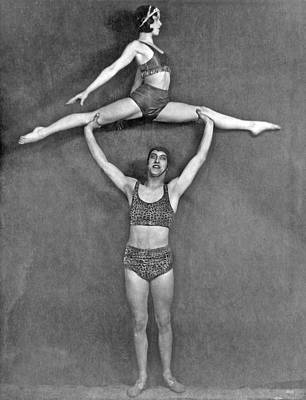 Acrobatic Vaudeville Couple Poster by Underwood Archives