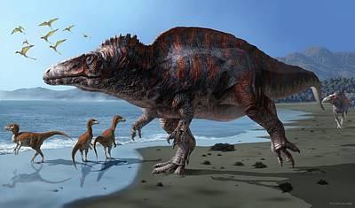 Acrocanthosaurus Poster by Jaime Chirinos